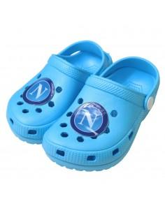 SSC NAPOLI LIGHT BLUE CLOGS KID