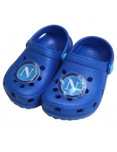 SSC NAPOLI BLUE CLOGS KID