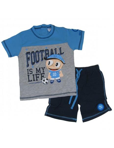 LIGHT BLUE KID COMPLETE T-SHIRT AND BERMUDA N9050