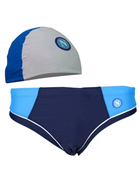SSC NAPOLI  BLUE SPEEDO LYCRA AND CAP