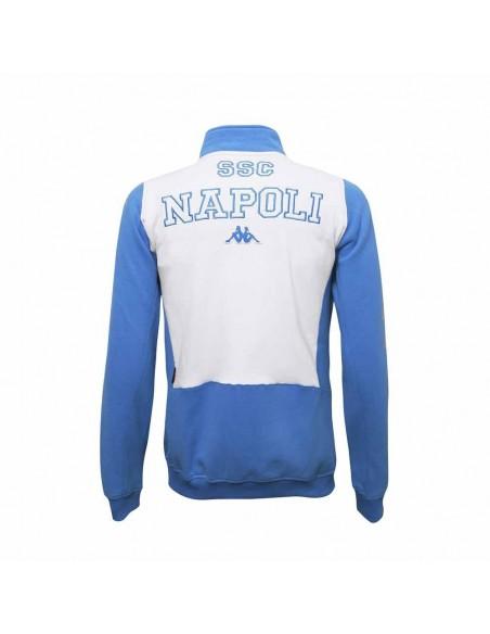 SSC NAPOLI LIGHT BLUE FULL ZIP SWEATSHIRT KAPPA