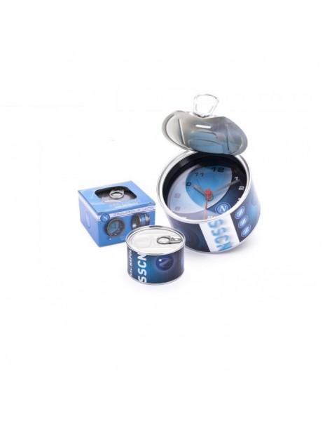 LIGHT BLUE ALARM CLOCK BAROMETER