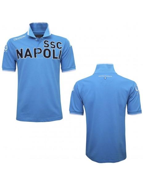 SSC NAPOLI POLO LIGHT BLUE ANNIVERSARY