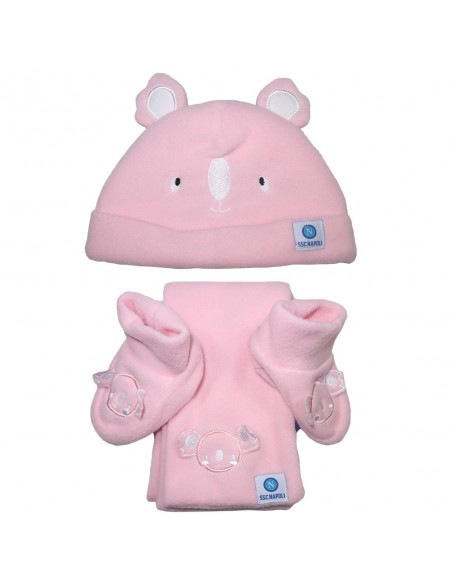 CAP, SCARF AND SHOES SET PINK SSC NAPOLI