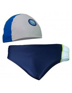 SSC NAPOLI LIGHT BLUE SPEEDO AND CAP