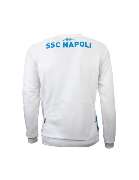 NAPOLI WHITE TEAM TRAINING SWEATSHIRT