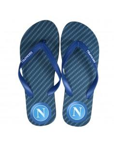 SSC NAPOLI BLACK/BLUE KID FLIP FLOP