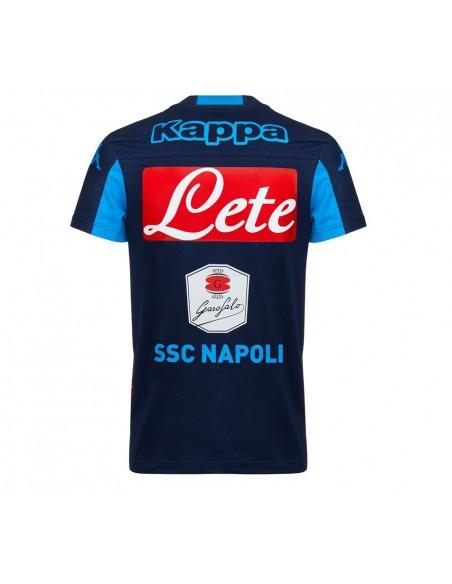 SSC NAPOLI KAPPA PREMATCH BLUE T-SHIRT 2015/2016