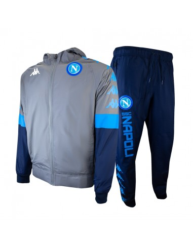 SSC NAPOLI HOODED TRACKSUIT EUROPE GRAY 19/20